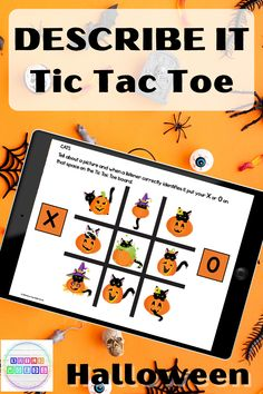 Describe Attributes Halloween Tic Tac Toe Digital and Printable Vocabulary Games