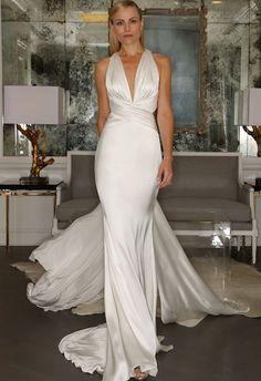abito da sposa a sirena Romona Keveza