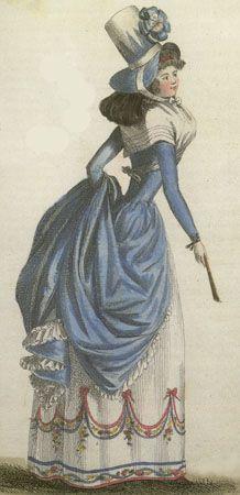 Journal de la Mode et du Gout, June 1790. OMG. The giant hat! The blue! The…