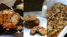 Muffins, pecan pie, chocolate balls, homemade granola and cookies - cooking with wholegrains doesn& have to be boring. 5 Recipe, Recipe Ideas, After School Snacks, Edible Gifts, Granola, Pecan, Healthy Recipes, Healthy Food, Nutrition