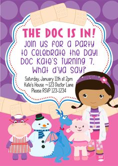 Printable lambie from doc mcstuffins disney inspired birthday doc mcstuffins birthday party invitation diy printable invite by bluegrasswhimsy 1500 purple pink solutioingenieria Gallery