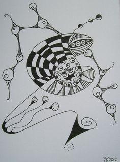 """Geinspireerd geraakt door het 365 project, a skull a day, van Noah Scalin, ben ik mijn eigen plan gaan uitwerken, ik wilde ook een 365 project starten. Wat zijn zentangles: zwart wit tekeningen (tangles) met herhalende motieven, waarbij je even helemaal """"weg"""" bent (zen) Waarom freestyle: omdat ik me vrij voel mijn eigen stijl te tekenen. Veel kijkplezier..."""
