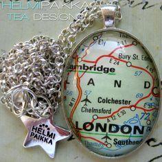 Tilaustyönä #karttakoru London <3
