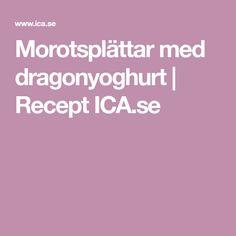 Morotsplättar med dragonyoghurt   Recept ICA.se