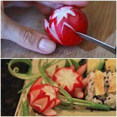 επιτραπέζια σκεύη για να-ραπανάκι λουλούδια - πώς θα βρείτε αυτή την ιδέα;