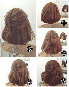 """ถูกใจ 68 คน, ความคิดเห็น 1 รายการ - nest hairsalon (@nest_hairsalon) บน Instagram: """"簡単ボブアレンジ ① 毛先は軽く巻いておきます。② 頭のハチあたりの髪を取り少し強めにねじってピンで留めます(ピンの留め方は過去の投稿を参考にしてみてください) ③…"""""""
