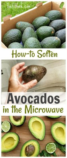 How to Soften Avocados in the Microwave -- learn hot to turn a rock-hard avocado into a creamy, ready-to-eat fruit in 5 minutes. A great hack when you're in pinch for breakfast, lunch or dinner.