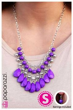 """Pretty purple!  Join us tonight on Facebook for a $5.00 jewelry party at """"JewelRaven"""" 7:30pmEST."""