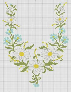 This Pin was discovered by Hay Cross Stitch Borders, Cross Stitch Flowers, Cross Stitch Charts, Cross Stitch Designs, Cross Stitching, Cross Stitch Embroidery, Hand Embroidery, Cross Stitch Patterns, Needlepoint Stitches