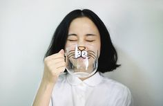 Cute Creative Cartoon Cat Face Mug / Cup Glassware by ZakkaMart MINE! (Well not yet, but I want this...)
