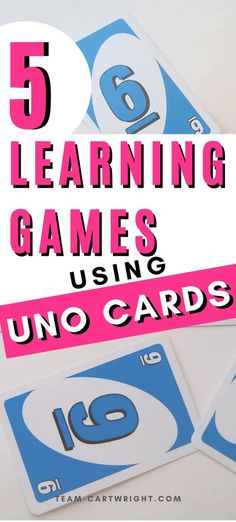 5 Learning Activities Using Uno Cards - Team Cartwright Reading Games For Kindergarten, Learning To Read Games, Pre K Activities, Preschool At Home, Preschool Learning Activities, Home Learning, Toddler Learning, Learning Games For Preschoolers, Learning Cards