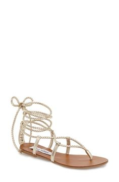 Steve Madden 'Werkit' Gladiator Sandal in Tan Suede (not the one in the pic) (Women) available at #Nordstrom size 8