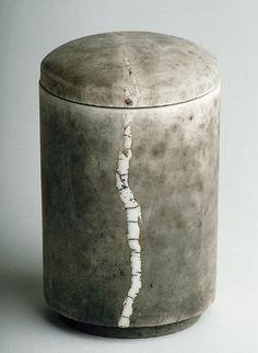 Kate Schuricht raku fired container