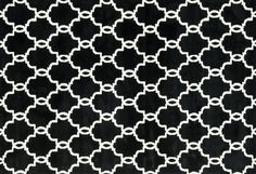 The striking design of this rug draws you into a room, not to mention it is incredibly soft that will keep you there! #black #plush