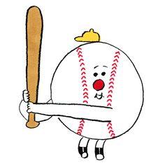 Japan Illustration, Character Illustration, Poster Drawing, Painting & Drawing, 60s Cartoons, Baseball Painting, Illustration Techniques, Cartoon Background, Painting Inspiration