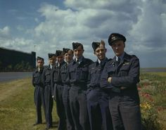617 Squadron (dambusters) at Scampton, Lincolnshire, 22 July 1943 Flight Lieutenant H S Wilson's crew. Left to right: Flight Serg. Ww2 Aircraft, Military Aircraft, Lancaster Bomber, Armored Fighting Vehicle, Battle Of Britain, Modern History, Royal Air Force, War Machine, Military History