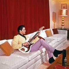 Elvis Presley at home.  A George Vreeland Hill Pinterest post.