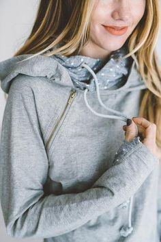 *Exclusive Double Hooded Sweatshirt - Polka Dots