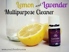 Lemon Lavender Homemade Multipurpose Cleaner. See the tutorial