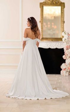 6718 Vintage Satin Wedding Dress by Stella York