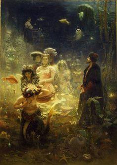 Sadko in the Underwater Kingdom  1876  by Ilya Repin