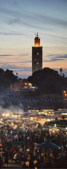 Djemaa el-Fna square, Marrakech, Morocco