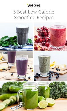 5 Best Low Calorie Smoothies: Searching for a delicious smoothie that won't go over your allotted calories for the day? Or maybe something light to tide you over between meals? Look no further; here are our five best low calorie smoothies. #VegaSmoothies #BestSmoothies