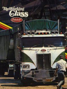 Photo: Working Class Doubles   Class In Print album   Mackinac359 Vintage Trucks, Old Trucks, Big Rig Trucks, Semi Trucks, Peterbilt Trucks, Peterbilt 379, Custom Trucks, Custom Big Rigs, Cab Over