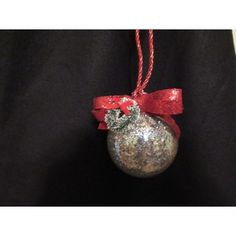 Handcrafted ornament is created with a glass ornament that is silver glitter lined with a red glitter ribbon bow on the top with a for that little extra touch. Fabric Ornaments, Ball Ornaments, Ornament Wreath, Glitter Ribbon, Ribbon Bows, Silver Glitter, Handcrafted Christmas Ornaments, Christmas Bulbs, Wreaths