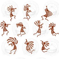 Kokopelli Dancers 2 Left