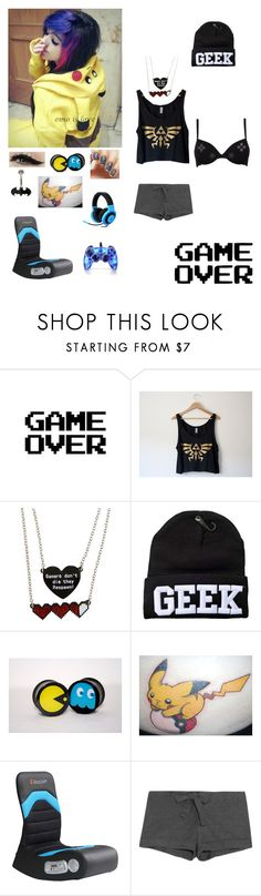 """""""gamer girl lazy day"""" by dreadful-glassheart ❤ liked on Polyvore featuring WALL, Hot Topic, Razer, Bodas and Anatomy Of"""