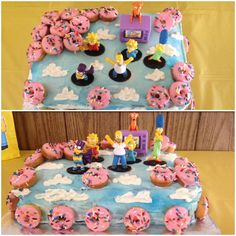 The Simpsons birthday cake. Created for a Simpsons fanatic.