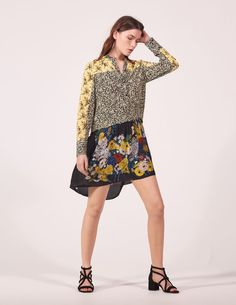 Floral Patchwork Dress - Dresses - Sandro-paris.com