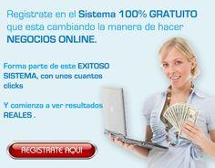 IMPORTANTE. No te pierdas el sistema que está revolucionando Internet... y ¡gana dinero ya!  Gratis. ¡Regítrate ya!: http://gananciaz.com/ganardinero/jordips