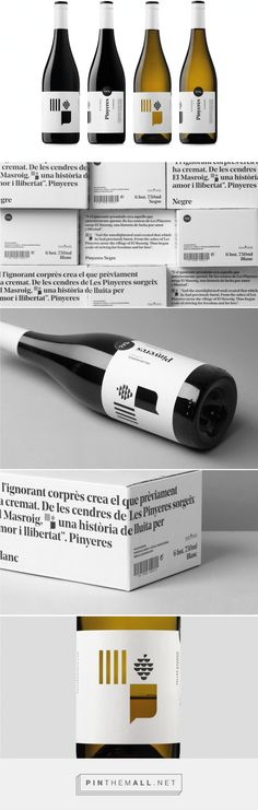 Pinyeres #Wines #packaging designed by Atipus Disseny Gràfic - http://www.packagingoftheworld.com/2015/07/pinyeres-wines.html