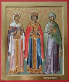 Byzantine Icons, Byzantine Art, Saint Barbara, Painting Studio, Orthodox Icons, Christian Art, Religious Art, Graphic Prints, Saints