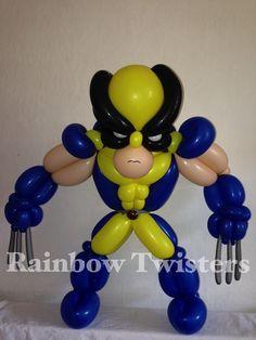 Balloon Superhero sculpture www.RainbowTwisters.com