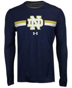 Under Armour Men's Notre Dame Fighting Irish Sideline Training Long Sleeve T-Shirt - Blue XL