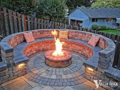 Portland Renovation and Landscapng Show . Fire Pit Seating, Backyard Seating, Fire Pit Backyard, Garden Fire Pit, Fire Pit Area, Diy Fire Pit, Seating Areas, Outdoor Fire, Outdoor Living