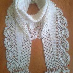 Best 10 Crochet scarf pattern i couldn t find the pattern for thi – Artofit – SkillOfKing. Crochet Scarves, Crochet Shawl, Crochet Clothes, Crochet Stitches, Free Crochet, Knit Crochet, Lace Knitting, Knitting Patterns, Crochet Patterns
