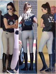 She looked ready for a horse ride. But instead Kendall Jenner indulged in another one of her favourite pastimes on Tuesday as she headed for a shopping trip in Los Angeles dressed in an equestrian style ensemble. The model showed off her svelte Equestrian Girls, Equestrian Outfits, Equestrian Style, Equestrian Fashion, Kendall Jenner Mode, Vintage Band T Shirts, Riding Pants, Jenner Sisters, Khloe Kardashian