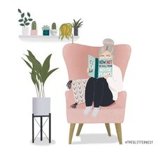 Why is it so hard to keep some houseplants alive? by the glitter nest Art And Illustration, Buch Design, Poster S, Aesthetic Art, Cute Art, Art Drawings, Doodles, Artsy, Art Prints