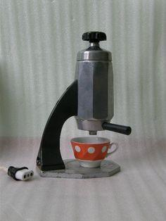 Soviet big espresso machine. 1960's. Vintage industrial retro kitchen equipment, coffee maker. Russian USSR