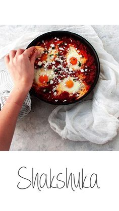 "Is there anything better than brunch? This shakshuka is so easy to make and SO delicious that you""ll become addicted to it! Come check out the recipe by clicking on the picture: Moroccan Carrots, Canning Diced Tomatoes, Carrot Salad, Breakfast Ideas, Brunch, Stuffed Peppers, Dishes, Cooking"