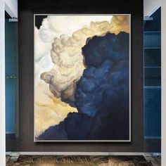 Blue Painting Abstract Canvas Abstract Painting Clouds Painting Textured Wall Art Contemporary Canvas Abstract Wall Art | BLUE COILS Textured Wall Art, Poppy Painting, Abstract Canvas Painting, Painting, Blue Painting, Minimalist Painting, Abstract Wall Art, Abstract, Canvas Painting