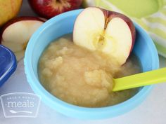 Baby Food Apple Puree | Once A Month Meals | Baby Food | Freezeable