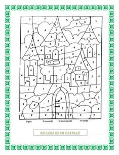 This comprehensive La Casa vocabulary unit was designed to get students thinking about the ideal home.  It is an excellent way to teach students vocabulary while making it fun and entertaining.Instructions:1.The lesson begins with a color by number picture of a castle.