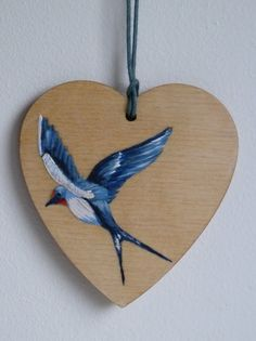 Handpainted swallow gift tag - LoveCheryl