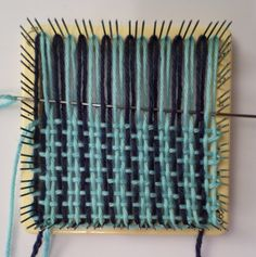 Weaving layer 1, in progress.