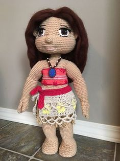 Ravelry: moana inspired outfit for doll pattern by Anastasia Bradley